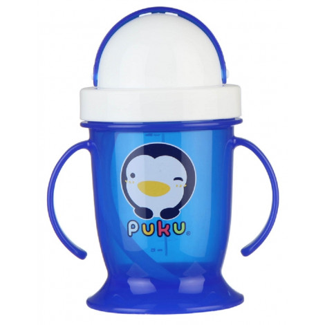 Puku 0511 Training Cup With Straw 200 ML - BLUE