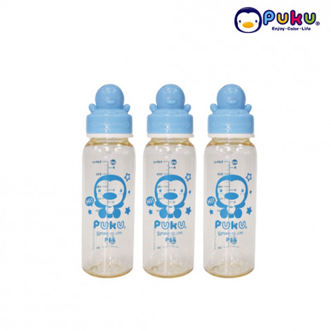 Puku PES Bottle 240cc - 11528 Blue Botol Susu ( 3 pcs )