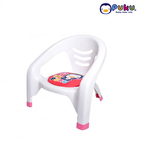 PUKU 30312 BABY PLASTIC ARM CHAIR- RED