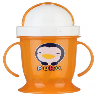 Puku 0511 Training Cup With Straw 200 ML - Orange