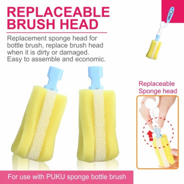 Puku Bottle Brush Replacement (2pcs) 10412