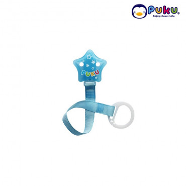 Puku Pacifer Chain 11115 Star Stripe - Blue
