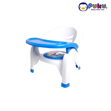 PUKU 30312 BABY PLASTIC ARM CHAIR- BLUE