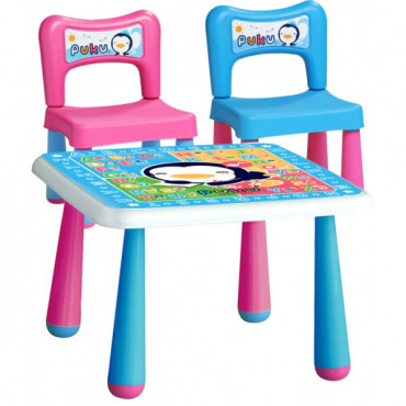 Puku Fantastic Table + 2 Chair 30502 - Pink Blue