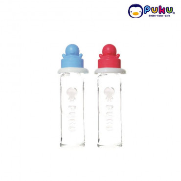 Puku Glass Feeding Bottle 240cc - 10103 [ Botol Susu ]