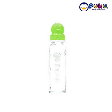 Puku Glass Feeding Bottle 240cc - 10105 [Botol Susu} Green