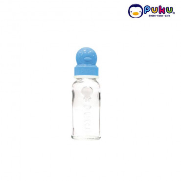 Puku Glass Feeding Bottle 140cc - 10106 [Botol Susu] PINK