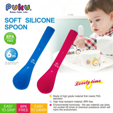 Puku Baby Silicone Spoon 14317 - Red