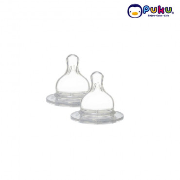 Puku Silicone Nipple (+) M Wide Neck (2 Pcs) - P10264